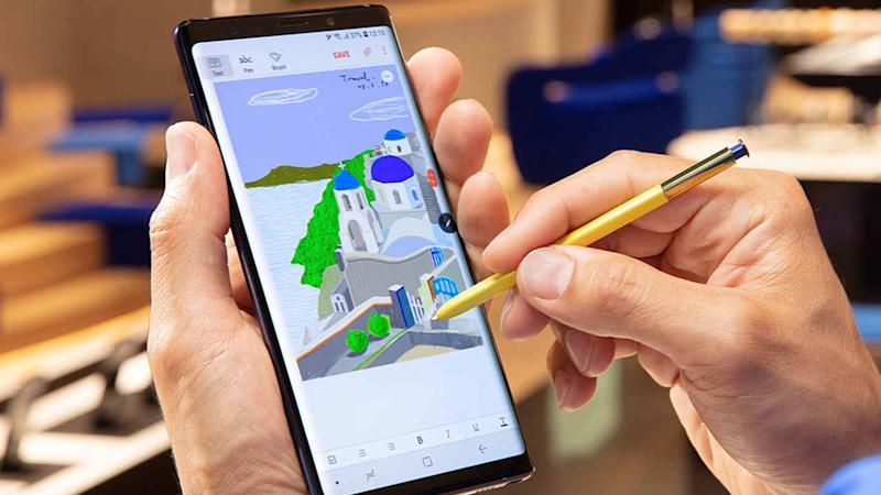 A 40-second charge of the S Pen allows up to 30 minutes of usage on the Samsung Galaxy Note 9. Image courtesy: Samsung