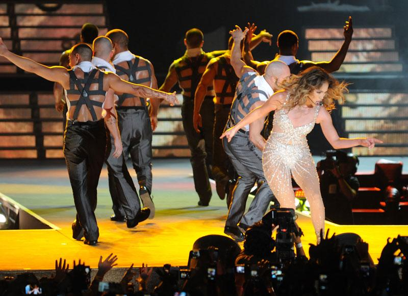 The gig, although not the first of the Dubai's concert season, was by far the biggest, with an A-lister that has also starred in movies and worked as a judge on American Idol. It was probably no coincidence that on the TV later the next day they were playing JLo's movie The Wedding Planner. Photo: Peter Harrison/Yahoo! Maktoob