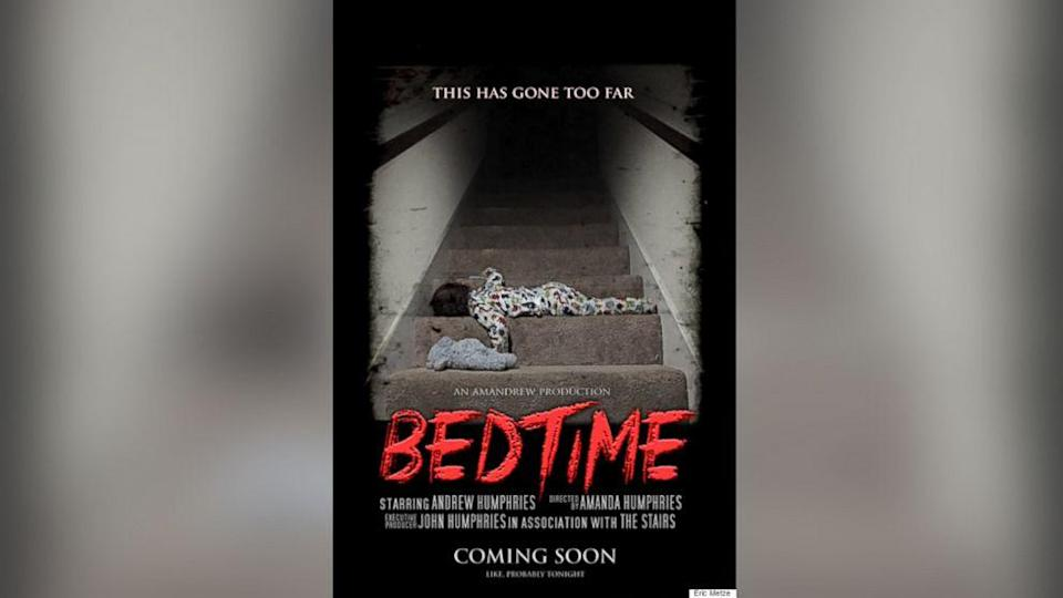 Horror Movie Parody Poster of Kid's Bedtime Goes Viral (ABC News)