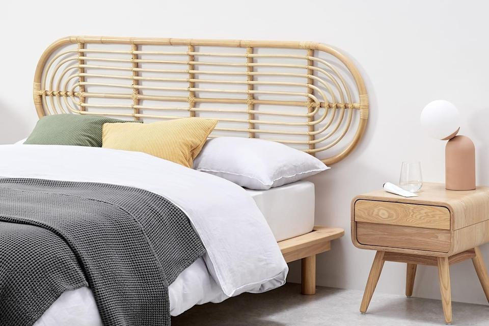 """<br><br><strong>Made</strong> Selin Double Headboard, Oval, Natural Rattan, $, available at <a href=""""https://www.made.com/ppc/selin-double-headboard-oval-natural-rattan"""" rel=""""nofollow noopener"""" target=""""_blank"""" data-ylk=""""slk:Made"""" class=""""link rapid-noclick-resp"""">Made</a>"""