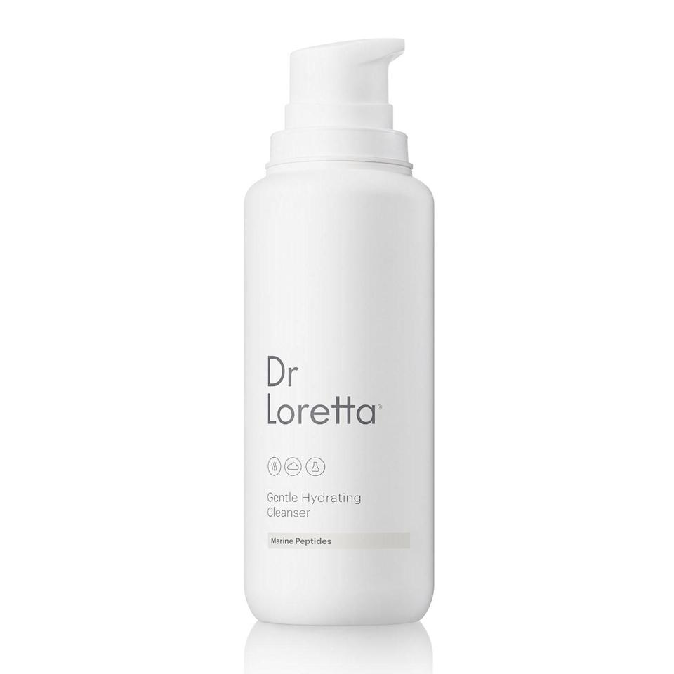 """<p>Dr. Loretta's Gentle Hydrating Cleanser is chock full of marine peptides that boost hydration, leaving you skin feeling soft instead of stripped. It removes all of the usual suspects (makeup, dirt, and oil) you want to wash away, in addition to the less obvious one like particulate matter caused by icky pollutants you don't even think about (like cigarette smoke and pesticides). Combine that with the calming and healing benefits of chamomile essential oil, which soothe even the driest, most sensitive (even post-procedure) skin types, and you're in for one satisfying face-washing experience.</p> <p><strong>$35</strong> (<a href=""""https://shop-links.co/1708643458101996967"""" rel=""""nofollow noopener"""" target=""""_blank"""" data-ylk=""""slk:Shop Now"""" class=""""link rapid-noclick-resp"""">Shop Now</a>)</p>"""