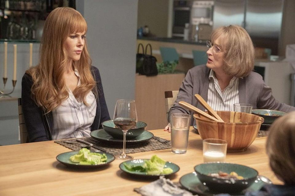Nicole Kidman as Celeste Wright and Meryl Streep as her meddling mother-in-law Mary Louise Wright in the second season of 'Big Little Lies' (HBO/Kobal/Shutterstock)