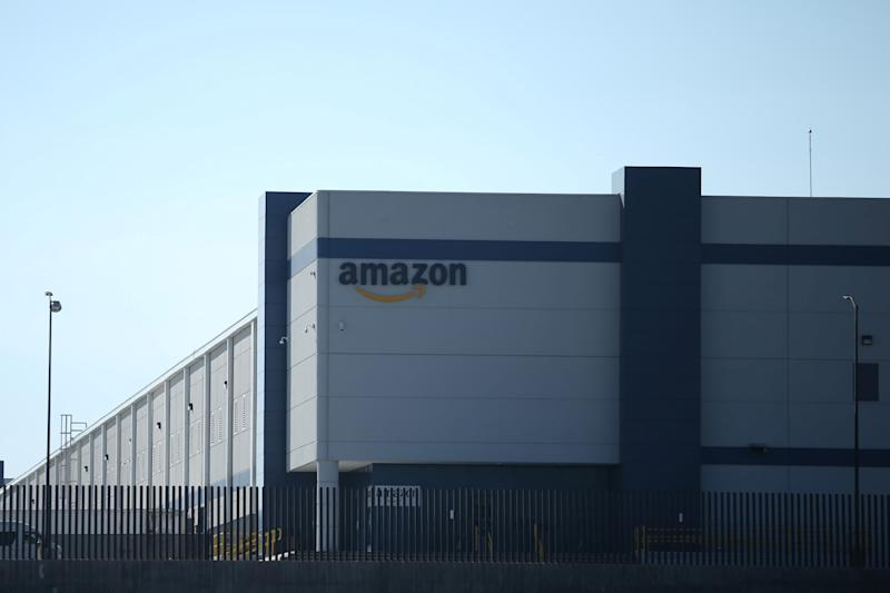 A view of the Amazon fulfillment center in Mexico City