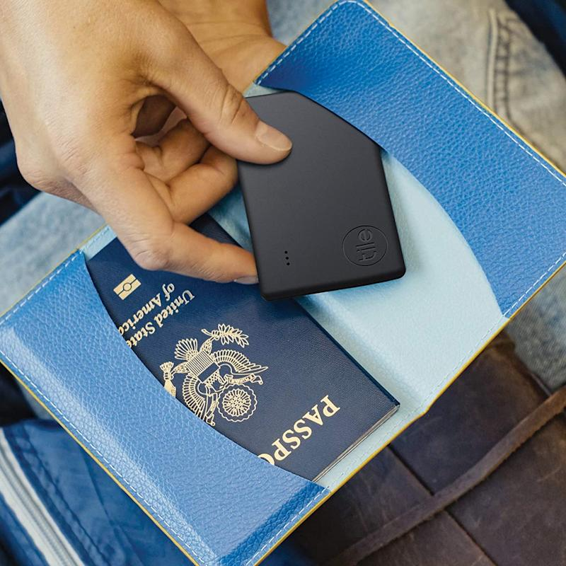 Your passport is now under the watchful eye of the Tile Slim. (Photo: Tile)