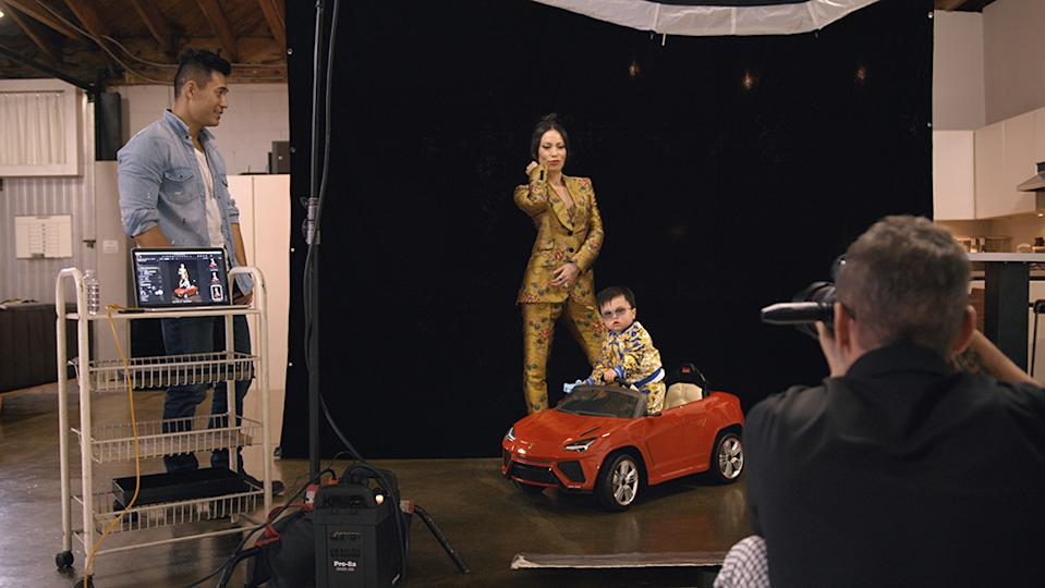 Even Kevin can't believe Christine is having a photoshoot for her wee boy, Baby G. Right there with ya, Kev. Photo: Netflix