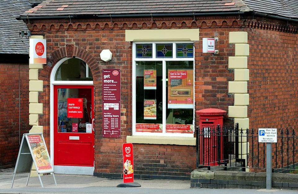 Cash deposits and withdrawals on course to top £3 billion in a month at Post Offices as bank branches are closed (Rui Vieira/PA) (PA Archive)
