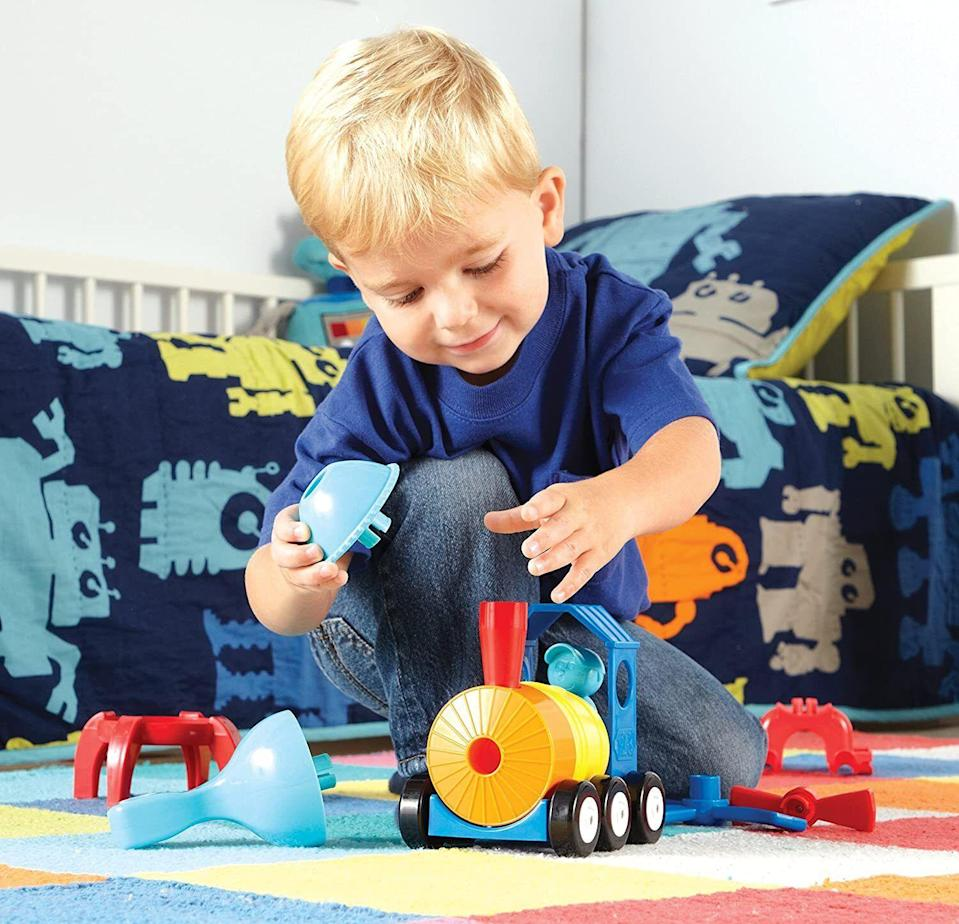 """So they can build three different vehicles from easy-to-handle parts for little hands. STEM learning starts early!<br /><br /><strong>Promising review:</strong>""""Really great product! I only wish I had found it sooner. I gave this to my son for his third birthday and he could have really used it for at least six months prior. It is easy enough to put together and take apart, but still holds together tightly and presents some decent physical challenges to help with perseverance.<strong>My son took right to this, putting things together first in imaginative ways and then also wants to follow the instructions, which is great. It's good quality and the pieces seem quite sturdy.</strong>We've had it about a week and it seems like it will stand up to long-term use without a problem. Very happy with this toy! --<a href=""""https://www.amazon.com/dp/B078WMKZS5?tag=huffpost-bfsyndication-20&ascsubtag=5709944%2C23%2C32%2Cd%2C0%2C0%2C0%2C962%3A1%3B901%3A2%3B900%3A2%3B974%3A3%3B975%3A2%3B982%3A2%2C13752233%2C0"""" target=""""_blank"""" rel=""""noopener noreferrer"""">K. D.</a><br /><br /><strong>Get it from Amazon for <a href=""""https://www.amazon.com/dp/B078WMKZS5?tag=huffpost-bfsyndication-20&ascsubtag=5709944%2C23%2C32%2Cd%2C0%2C0%2C0%2C962%3A1%3B901%3A2%3B900%3A2%3B974%3A3%3B975%3A2%3B982%3A2%2C13752233%2C0"""" target=""""_blank"""" rel=""""noopener noreferrer"""">$14.69</a>.</strong>"""