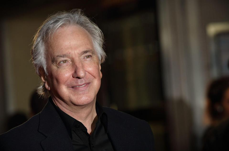 <p>British actor Alan Rickman died on Jan. 14, 2016 at 69 from pancreatic cancer. Photo from Getty Images </p>