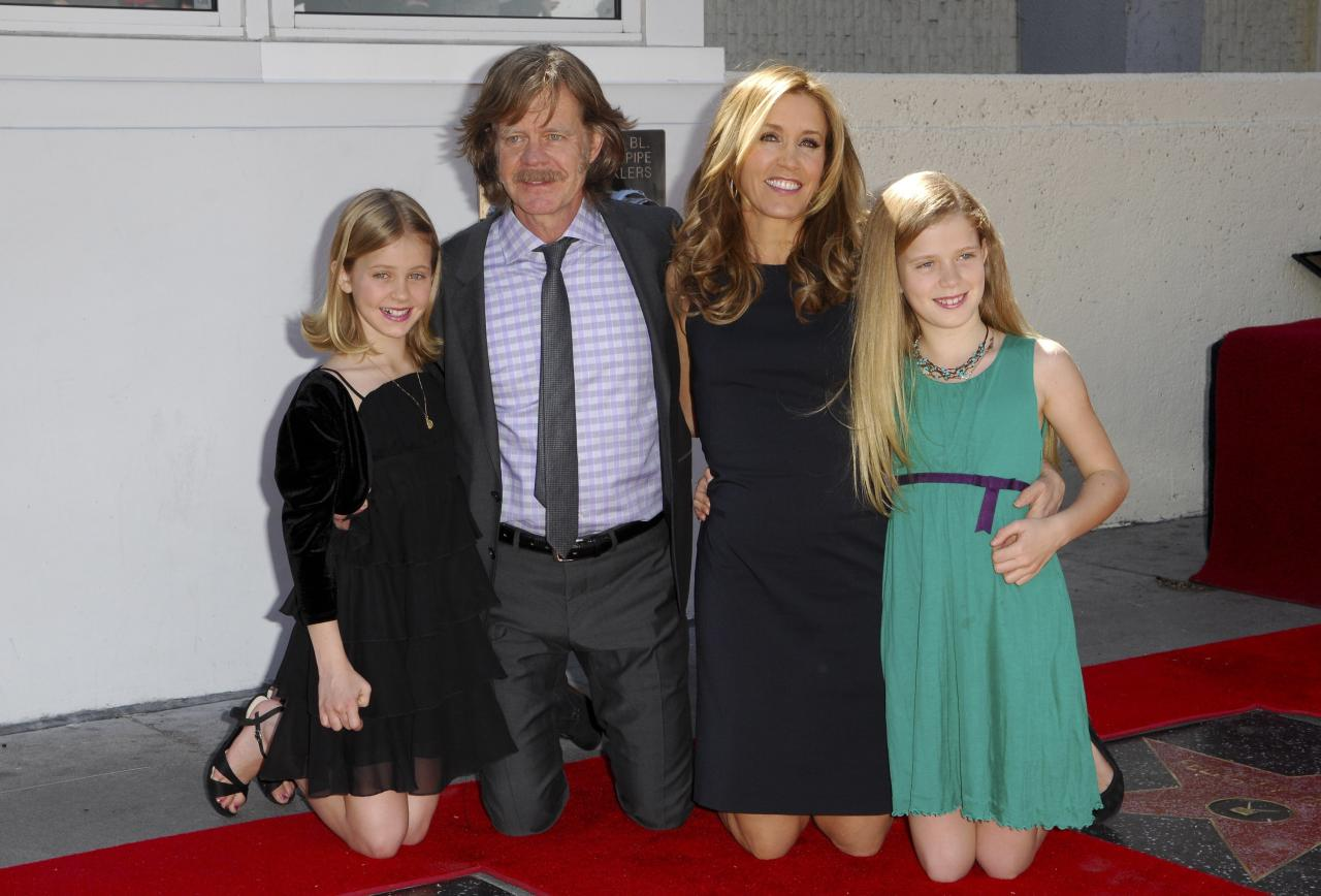 William H. Macy e Felicity Huffman con le figlie