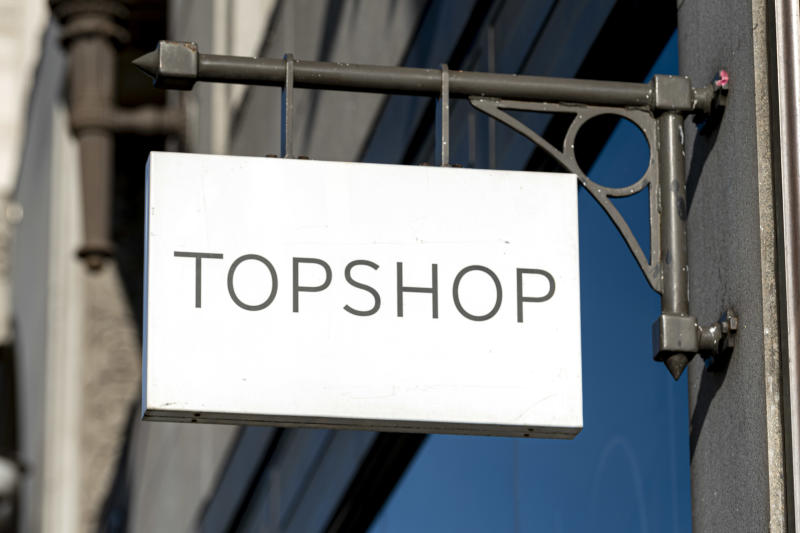 Topshop store logo seen at Oxford Street. (Photo by Dave Rushen/SOPA Images/LightRocket via Getty Images)