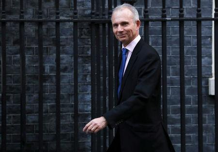 Britain's Minister for the Cabinet Office David Lidington arrives in Downing Street, London, Britain, November 13, 2018. REUTERS/Simon Dawson