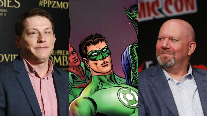 L to R: Seth Grahame-Smith (Jason LaVeris/FilmMagic), Green Lantern (DC Comics), and Marc Guggenheim (Lars Niki/Getty Images for Netflix)