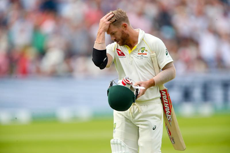 Australia's David Warner walks off after being dismissed. (Credit: Getty Images)