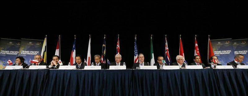 Australia's Trade Minister Robb speaks at a news conference at the end of the Trans Pacific Partnership TPP in Sydney