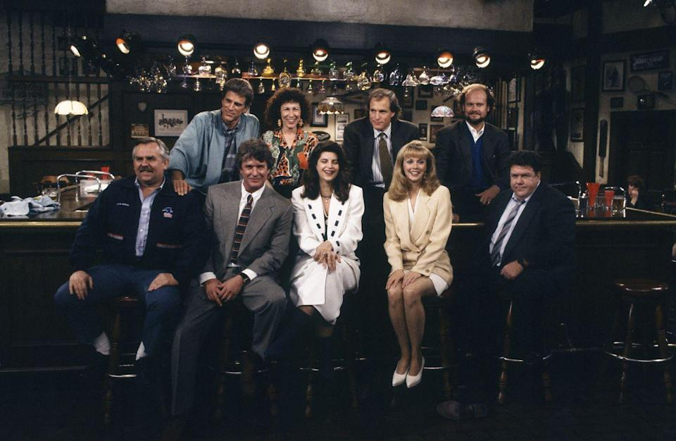 <p><em>Cheers</em>, a show about a bar in Boston, was a widely popular series that finally ended in May of 1993. Watched by 80.4 million people, the series finale was helmed by series regulars Kelsey Grammar, Woody Harrelson, Kirstie Alley and more. </p>