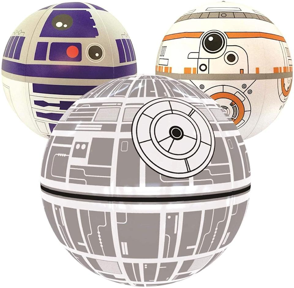 <p>These <span>Star Wars Large Beach Balls Set of 3</span> ($20) are lightweight and float. It's perfect for beaches and pools!</p>
