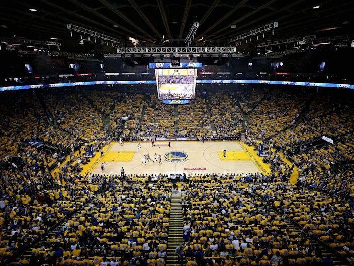 warriors oracle arena oakland