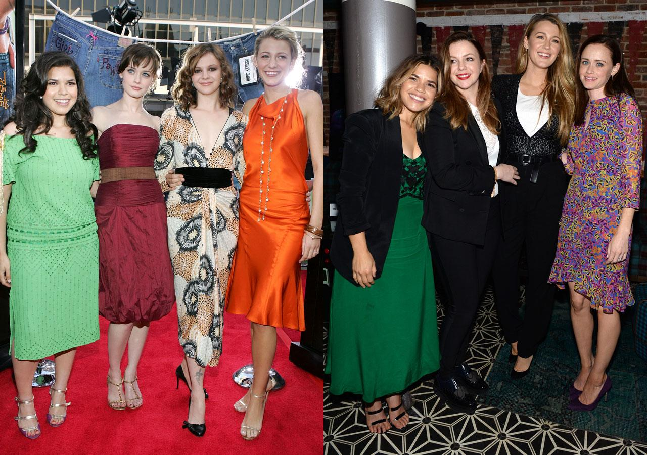 """<p>""""<a rel=""""nofollow"""" href=""""http://www.usmagazine.com/celebrity-news/news/america-ferrera-blake-amber-alexis-are-my-bffs-sisterhood-3-likely-2015122"""">They're my girls, three of my best friends to this day</a>,"""" America Ferrera told <em>Us Weekly</em> in 2015. """"I was 20 when I met them, I am 30 now, and they are still three of my best friends and supporters. Why I love that movie so much was at that time there wasn't a lot of sisterhood and stories of young girls being supportive of each other.""""<br />(Photos: Getty Images) </p>"""