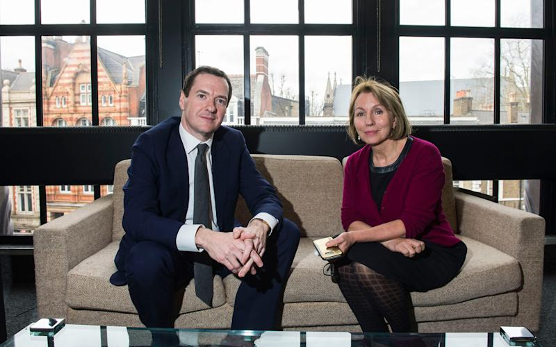 The former Chancellor will succeed Sarah Sands and take up his role in early May - Credit: Evening Standard / eyevine/Lucy Young