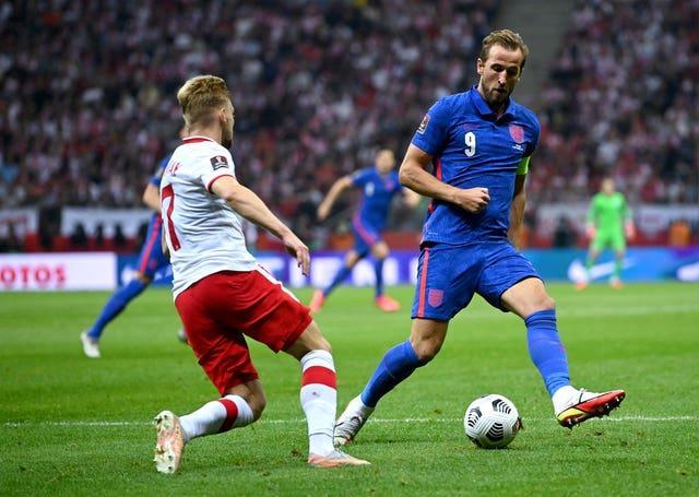 Harry Kane opened the scoring for England in Poland