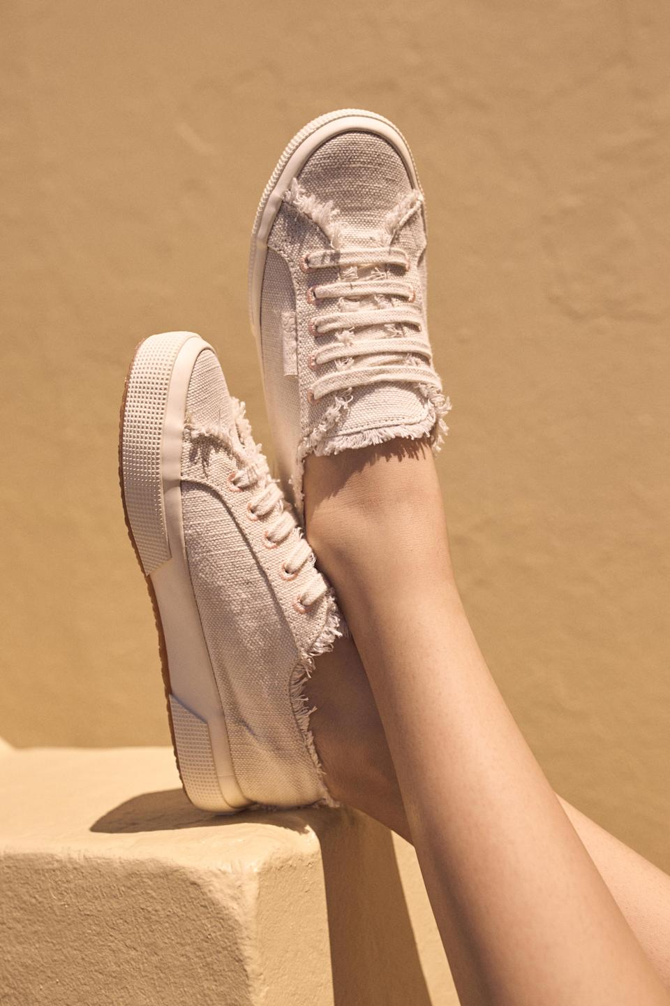 Superga x Aje Low Classic Style sneakers, $130. Photo: supplied.