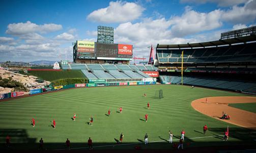 The Angels are making changes to the outfield wall at Angel Stadium that should lead to an increase in home runs. (Getty Images)