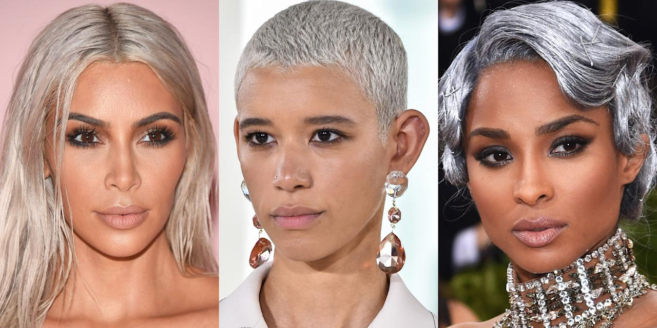 <p>A silver platinum dye job is a bold move. Long gone are the days when going gray was a bad thing. In fact, it's become one of the coolest hair trends to try; stars like Cara Delevingne have been rocking silver hair for years. But she's far from the first star to tread into gray lady territory. Here, find a slew of silver foxes that prove the supermodel's 'do puts her in some seriously badass company.</p>