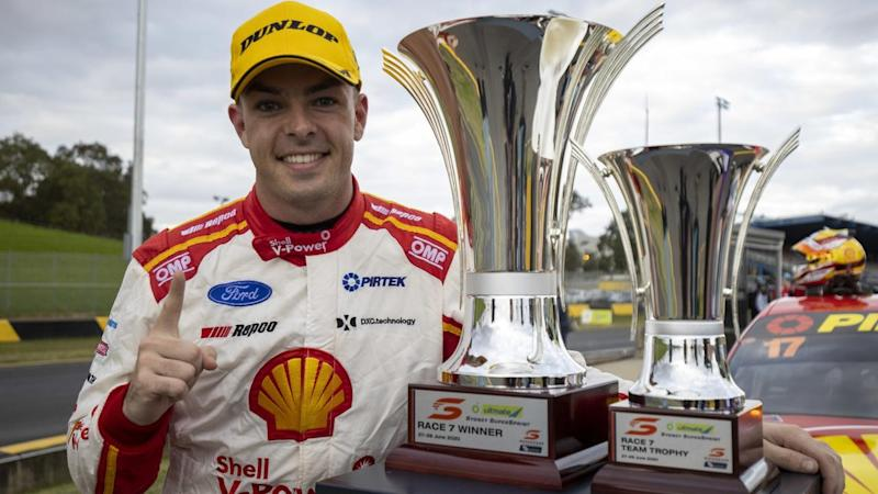 Supercars defending champion Scott McLaughlin has won two of the three races in the Sydney round