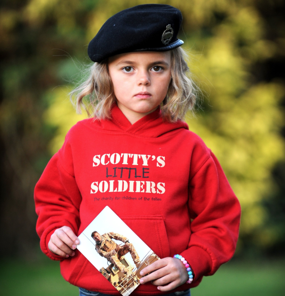 """<p>Scotty's Little Soldiers is a charity which supports the bereaved children of fallen soliders. The charity helps young children who have lost parents in the Forces, by offering professional counselling, funding activities and trips and providing development through educational grants. <br>You can donate here at <a href=""""http://scottyslittlesoldiers.co.uk/get-involved/donate/"""" rel=""""nofollow noopener"""" target=""""_blank"""" data-ylk=""""slk:Scottyslittlesoliders.co.uk"""" class=""""link rapid-noclick-resp"""">Scottyslittlesoliders.co.uk</a>.<br><em>Photo: Scotty's Little Soldiers</em> </p>"""