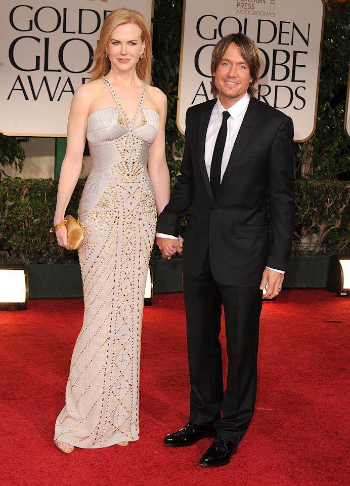 Nicole Kidman and husband singer Keith Urban arrives at the 69th Annual Golden Globe Awards at The Beverly Hilton hotel on January 15, 2012 in Beverly Hills, California.  (Photo by Steve Granitz/WireImage)