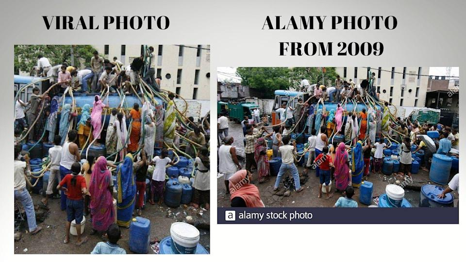"""<div class=""""paragraphs""""><p>Viral photo (L), and alamy stock photo from 2009 (R)</p></div>"""