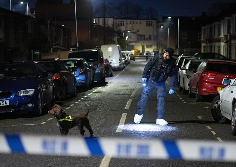 <strong>Police in Seven Kings, Ilford after a multiple stabbing.</strong> (Photo: PA Wire/PA Images)