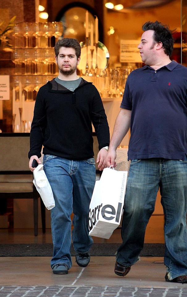 """Jack Osbourne does some shopping at the gigantic Crate and Barrel store located at The Grove, an outdoor mall in Los Angeles that features a magnificent fountain, high-end restaurants, and celeb clientele. <a href=""""http://www.infdaily.com"""" target=""""new"""">INFDaily.com</a> - January 9, 2008"""