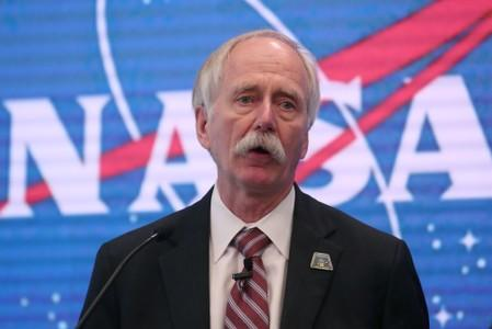 FILE PHOTO: News conference announcing that NASA is opening the International Space Station for commercial business in New York City