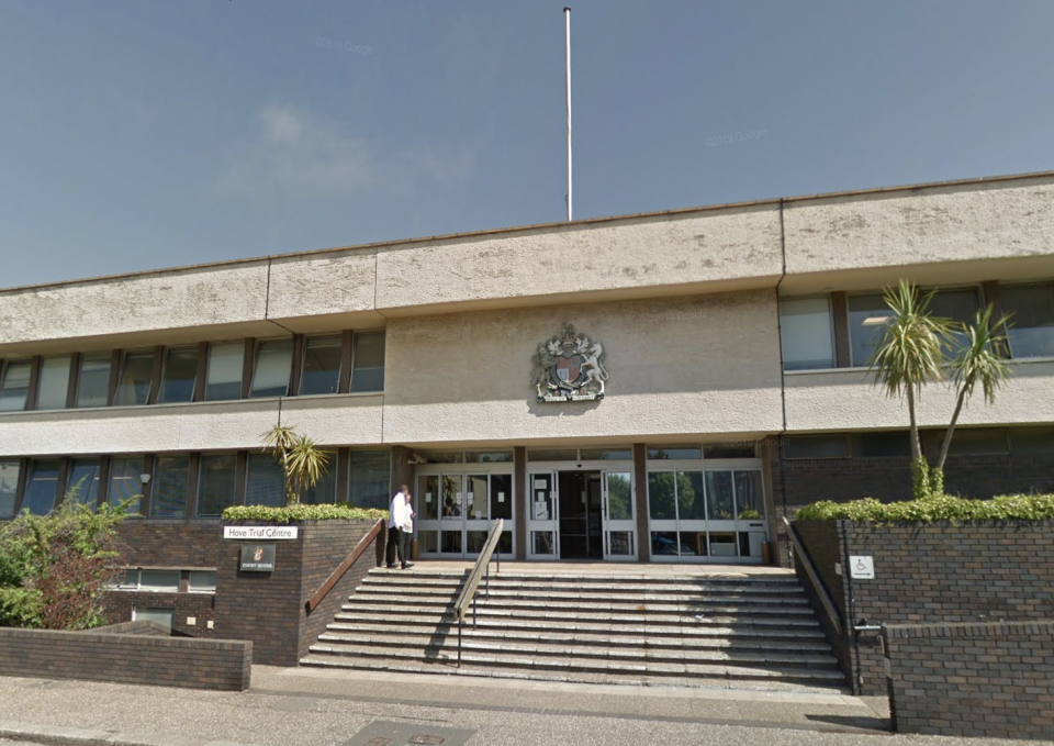 Appleton's trial is taking place at Hove Crown Court. (Google Maps)