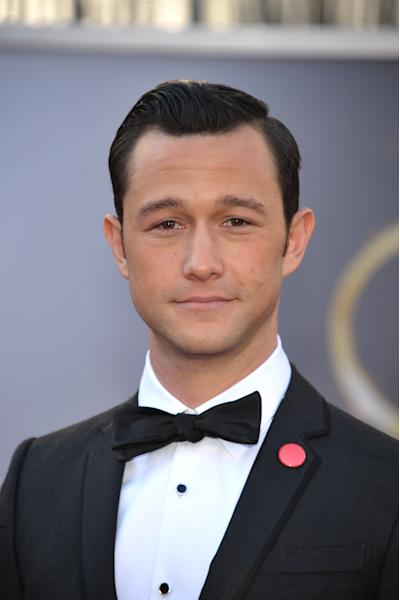 Actor Joseph Gordon-Levitt arrives at the Oscars at the Dolby Theatre on Sunday Feb. 24, 2013, in Los Angeles. (Photo by John Shearer/Invision/AP)