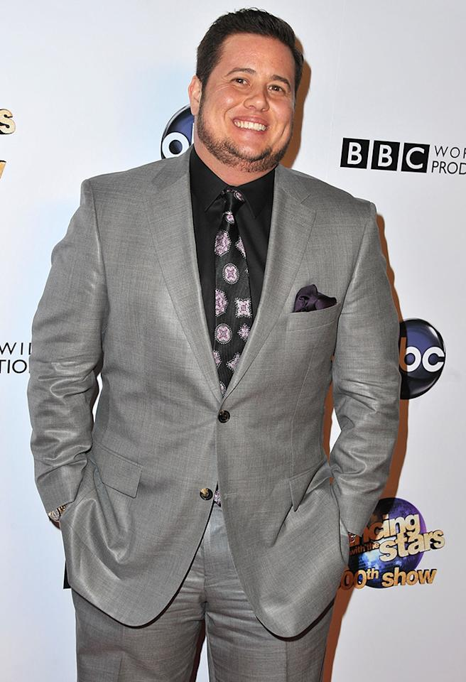 "HOLLYWOOD, CA - MAY 14:  Chaz Bono arrives at ABC's ""Dancing With The Stars"" 300th Episode Celebration at Boulevard3 on May 14, 2013 in Hollywood, California.  (Photo by Angela Weiss/Getty Images)"