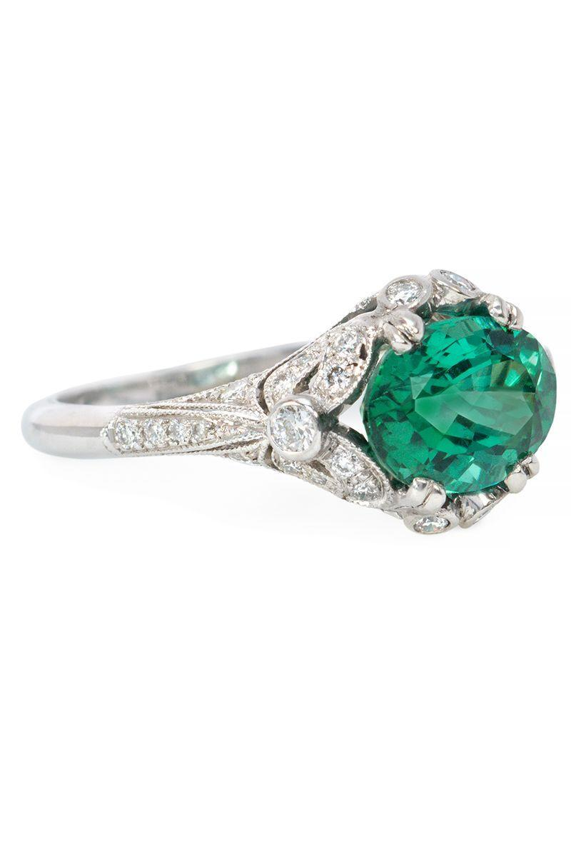 "<p><em><strong>Kentshire</strong> Green Zircon Solitaire Ring with Edwardian Style Platinum Band, $8,150, circa the 1900s, <a href=""https://www.kentshire.com/collections/fine-jewelry/products/green-zircon-solitaire-ring-with-edwardian-style-platinum-band"" rel=""nofollow noopener"" target=""_blank"" data-ylk=""slk:kentshire.com"" class=""link rapid-noclick-resp"">kentshire.com</a></em></p><p><a class=""link rapid-noclick-resp"" href=""https://www.kentshire.com/collections/fine-jewelry/products/green-zircon-solitaire-ring-with-edwardian-style-platinum-band"" rel=""nofollow noopener"" target=""_blank"" data-ylk=""slk:SHOP"">SHOP</a></p>"