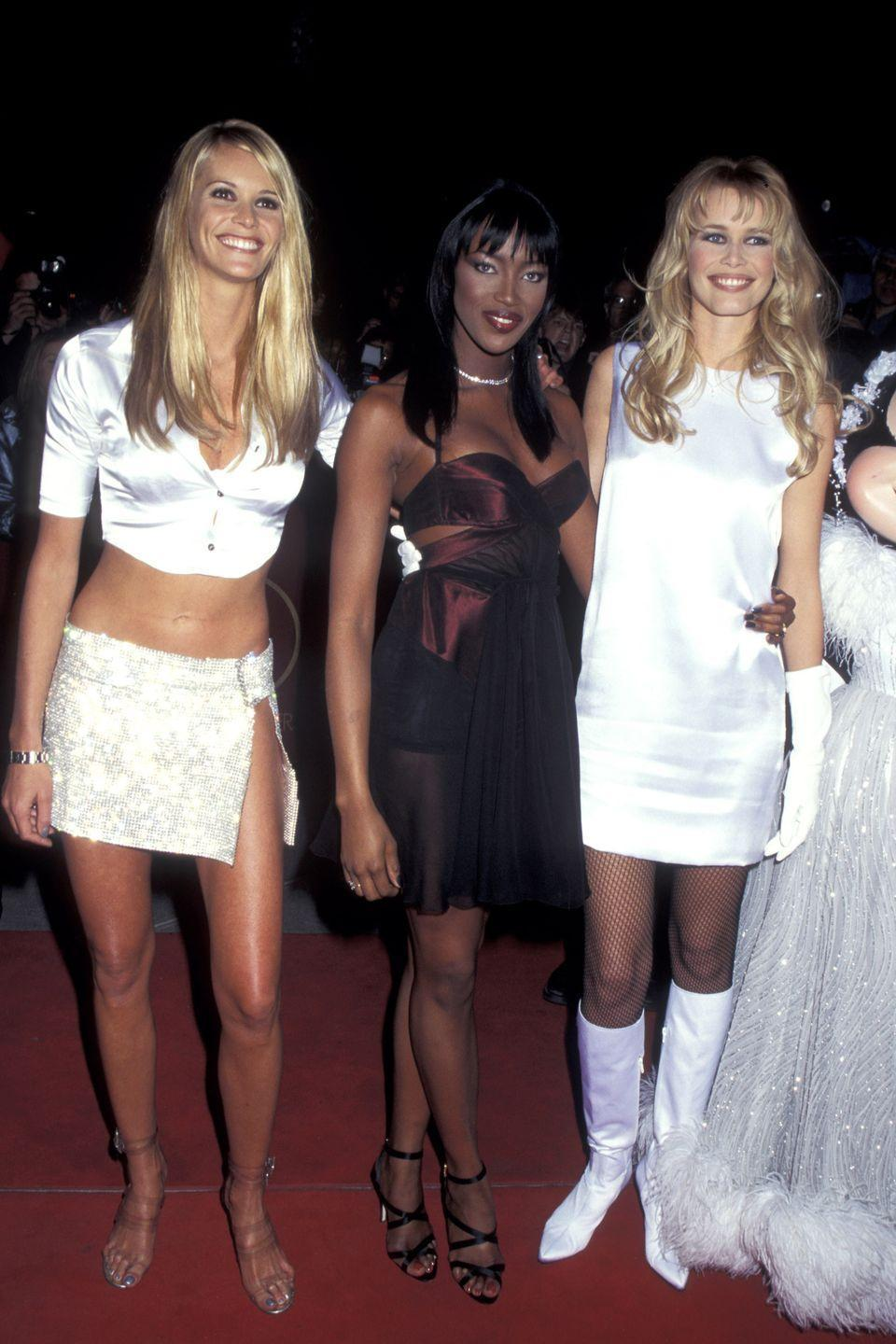 <p>Straight off the Versace runway head to toe in white satin!</p>