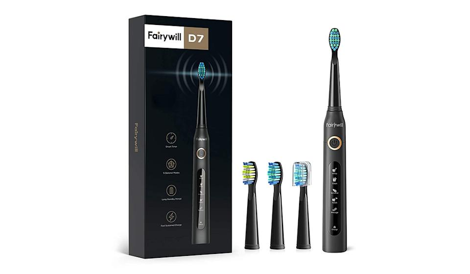 Electric Toothbrush Powerful Sonic Cleaning. (Photo: Amazon)