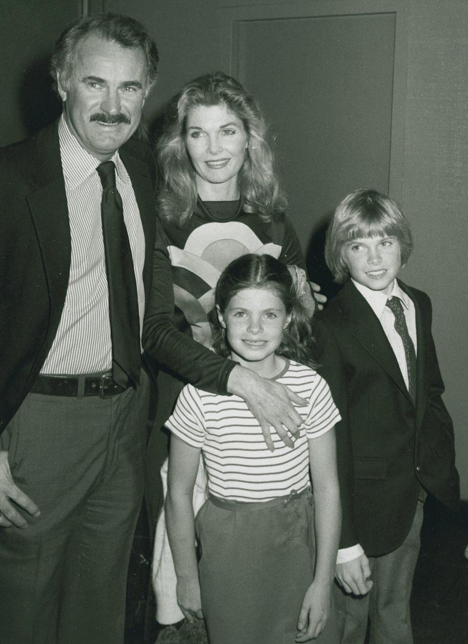 Dabney Coleman, wife Jean Hale, daughter Mary Coleman and son Randy Coleman