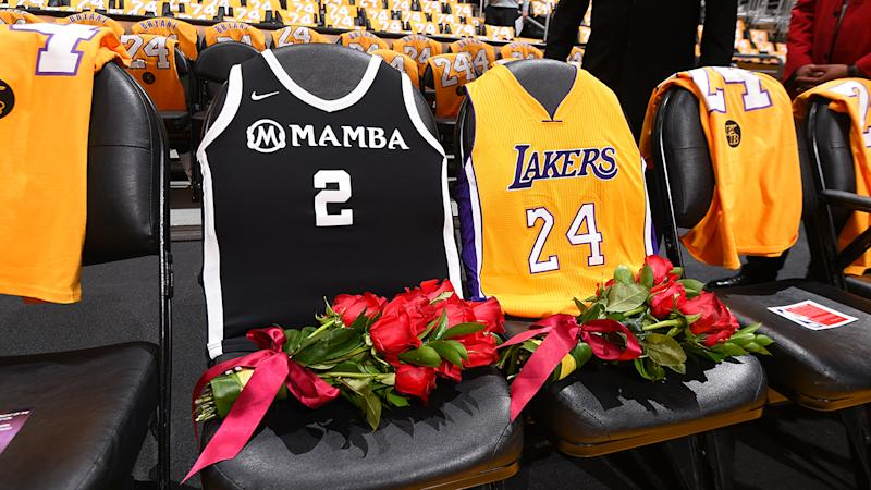 The Los Angeles Lakers, pictured here honouring Kobe and Gianna Bryant at Staples Centre.