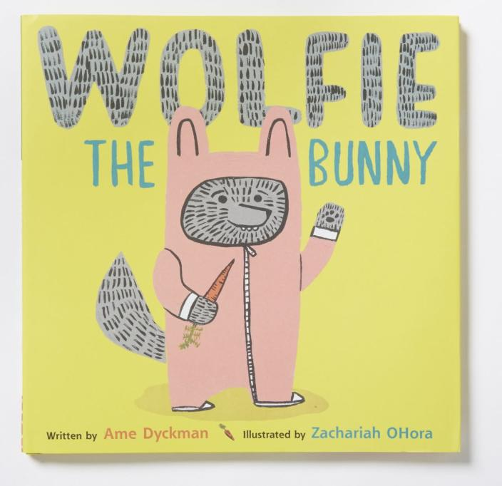 "Best Fictional Picture Book: ""Wolfie the Bunny"" by Ame Dyckman and Zachariah OHora"