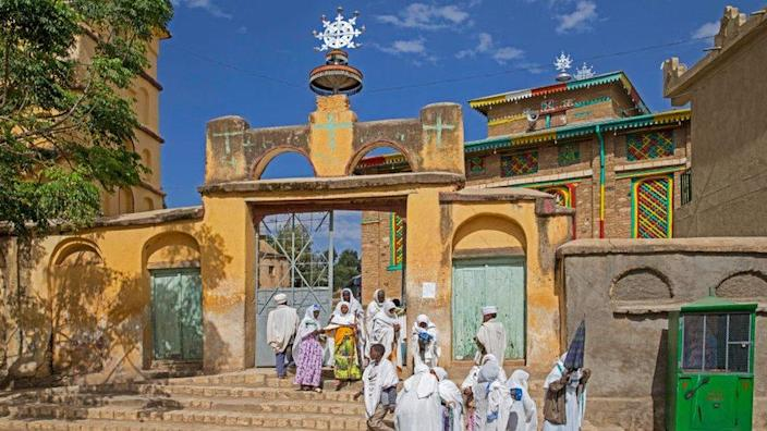 The Arba'etu Ensessa church in Askum, Ethiopia