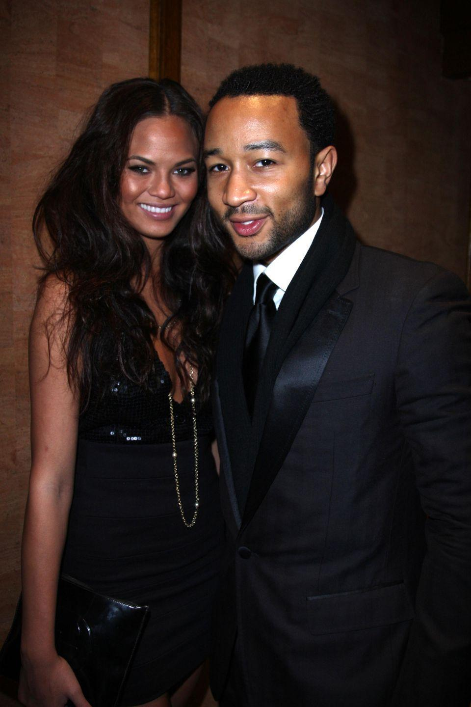 <p>A year after the couple first met on the set of Legend's music video, the couple attend an Esquire New Year's Eve party in New York.</p>