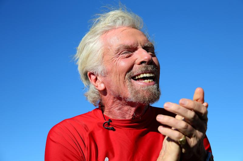 SYDNEY, AUSTRALIA - NOVEMBER 13: Richard Branson poses at Bondi Beach on November 13, 2019 in Sydney, Australia. (Photo by Don Arnold/WireImage)