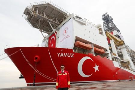 Turkey says drill ships continue work in eastern Mediterranean, another en route