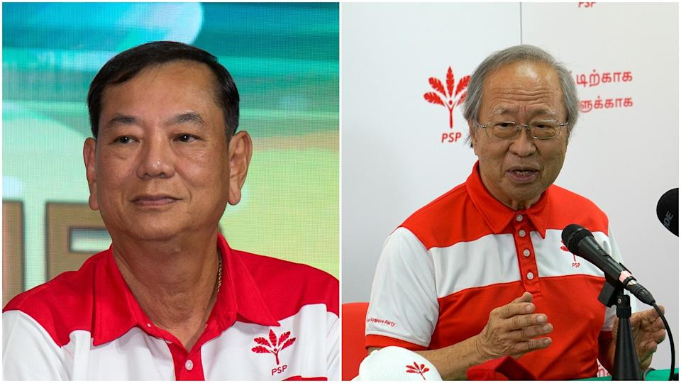 Progress Singapore Party's Francis Yuen (left) and Dr Tan Cheng Bock. (Yahoo News Singapore file photos)