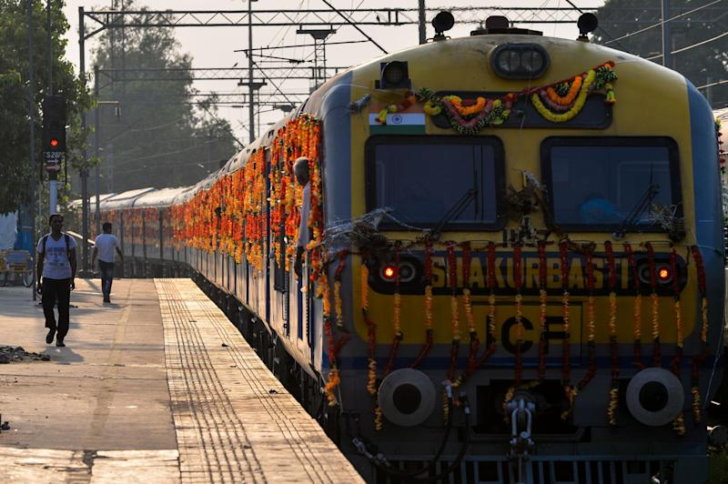India already has 250 trains fitted with solar-panels (AFP/Getty Images)