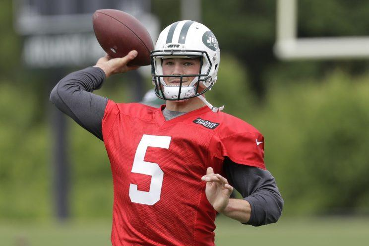 Christian Hackenberg is competing for a starting job with the Jets. (AP)
